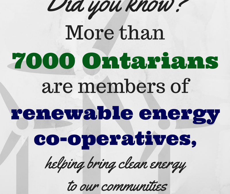 Did you know? More than 7000 Ontarians are members of renewable energy co-operatives